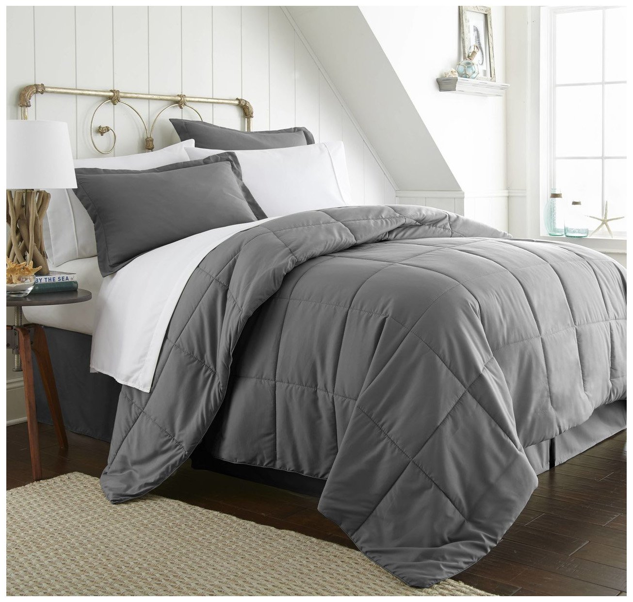 ienjoy Home Bed in a Bag, Twin, Gray