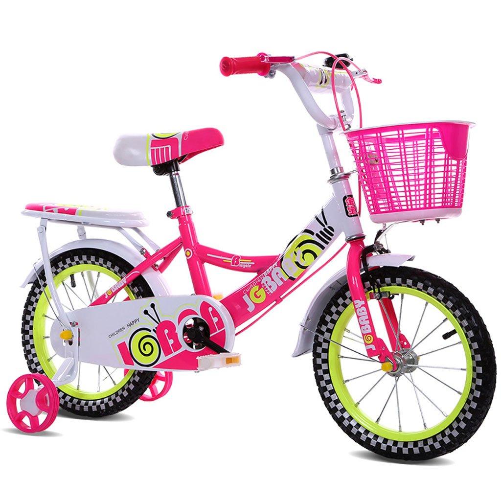 子供用自転車12/14/16インチガールベビーキャリア2-4-3-3-5/4-7歳の自転車高炭素鋼フレーム、ピンク/ブルー/パープル (Color : 12 inch pink) B07D29RPN9