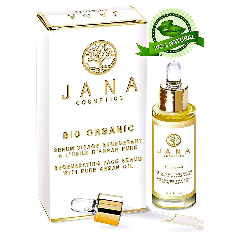 Jana Cosmetics: suero antiedad para la cara y los ojosSuero para los ojos rico en vitamina E y en aceite de argán 100% puro.Suero facial regenerador que estimula la producción de colágeno.Cuidado del contorno de ojos:suero antiarrugas, antibolsas, antifati