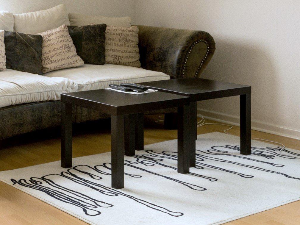 Ameriwood Home Crane Glass Top C Table Black