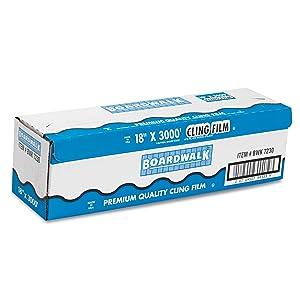 "Boardwalk 7204 Clear PVC Food Wrap Film, 18"" x 2000 ft Roll"