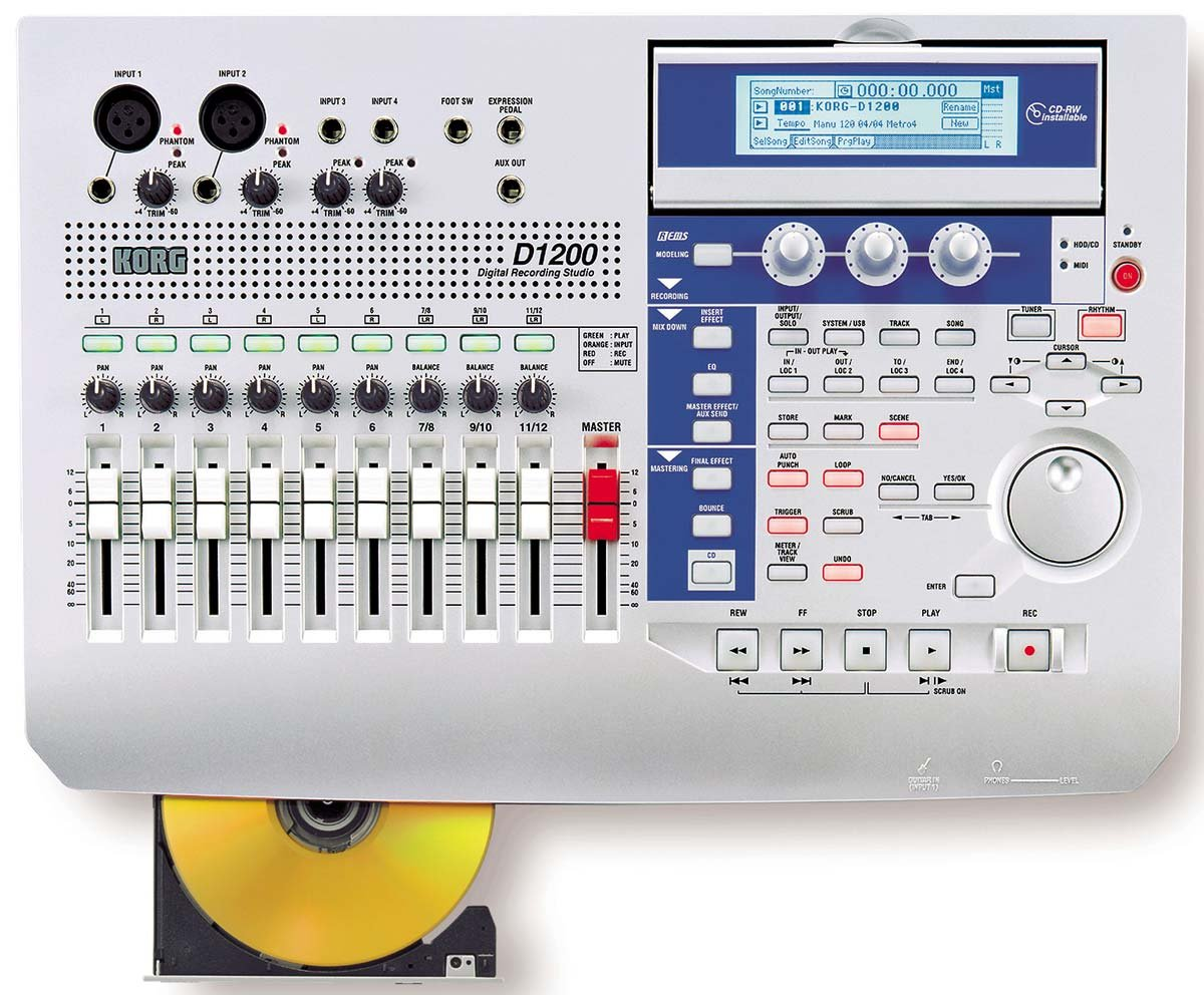 Korg D-1200 Digital Audio Multi Track Recorder