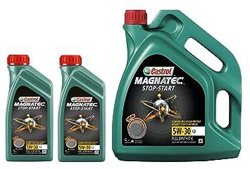 Castrol Magnatec Stop-Start 5W-30 C3 - Lote de 6 litros: Amazon.es: Coche y moto
