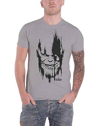 Head Noir Infinity Shirt War Avengers T Nouveau Thanos Officiel f7gb6y
