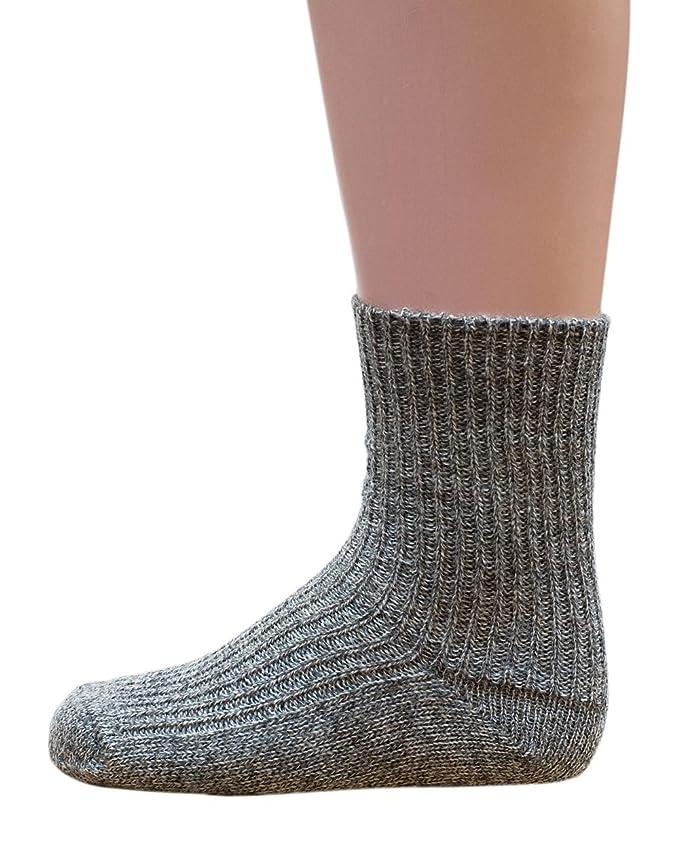 Hirsch Natur - Calcetines de punto grueso para niños y bebés, 100% lana virgen BIO (kbT): Amazon.es: Ropa y accesorios