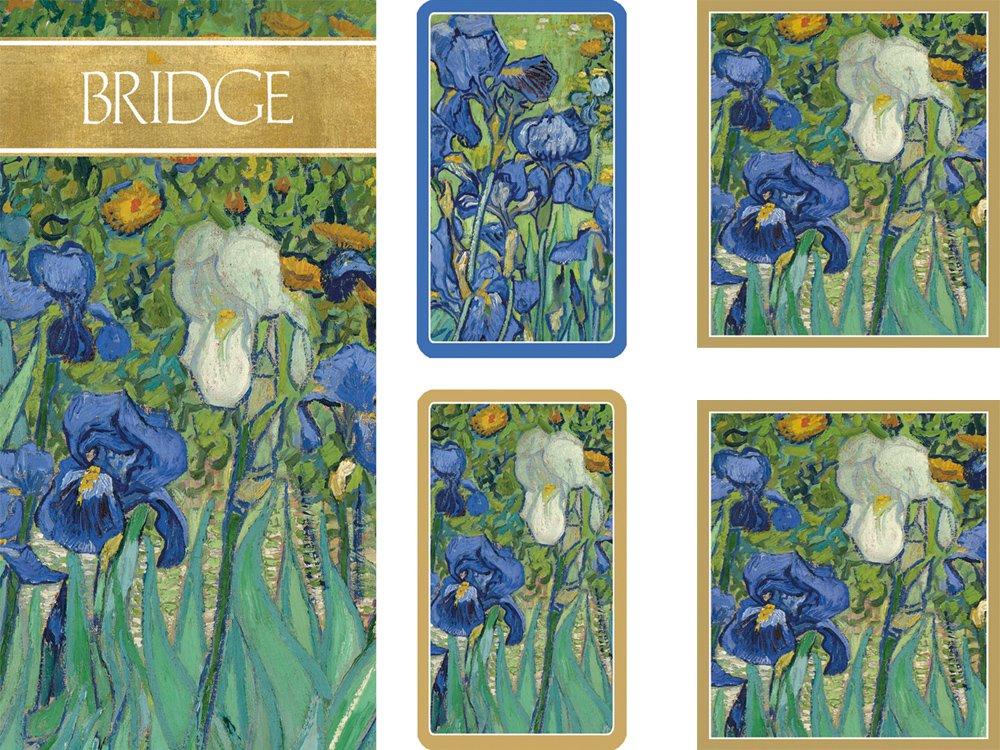 Entertaining with Caspari Gift Set Jumbo Type - 2 Score Pads & Bridge Tallies (Package of 24) (Van Gogh Irises) by Caspari