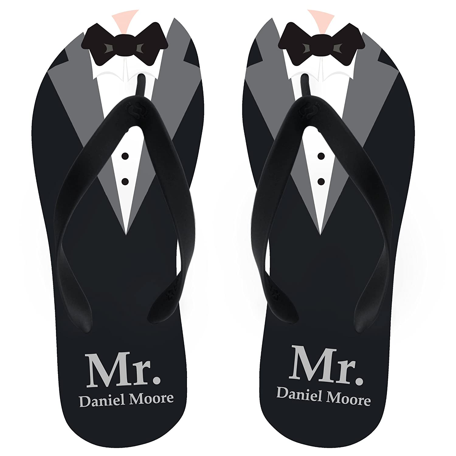 c0f558466712 Name Groom Flip Flops Personalize Yours! Black