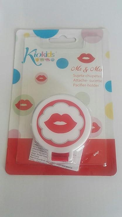 Kiokids 1449 - Sujeta chupete labios, unisex, color rojo ...