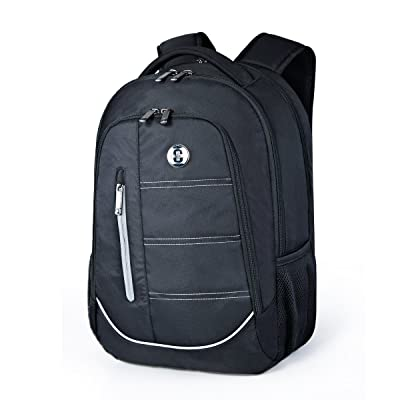 durable modeling Laptop Backpack,Swissdigital Busniess Travel Hiking Cucci nylon Backpack with RFID Protection for Man and Woman Fits Under 15-Inch Laptop and Notebook, Black