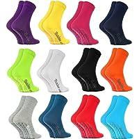 Rainbow Socks - Hombre Mujer Calcetines Antideslizantes ABS Colores de Algodón