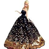 """Creation® nero Temptation Fantasia fatto a mano Vestito da sposa per 11.5 """"barbie Doll- Nero"""
