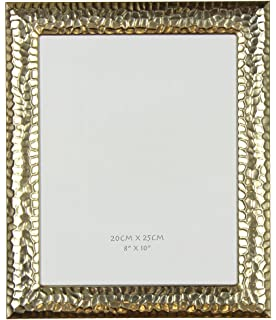 original hammered effect gold 8 x 10 picture frame by haysom interiors