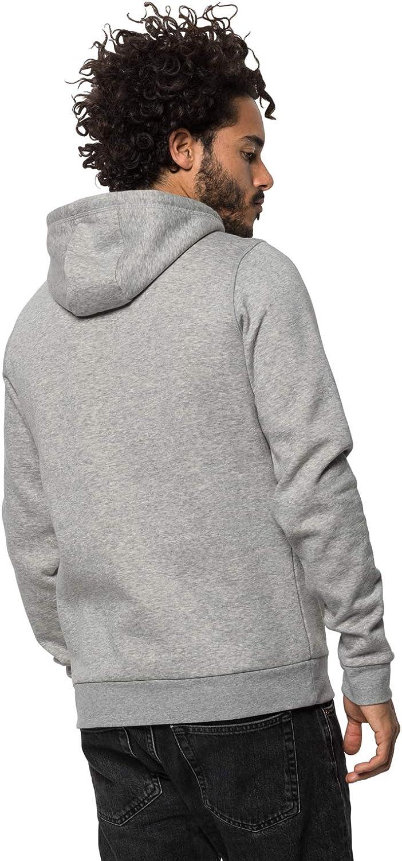 Jack Wolfskin Herren Winter Logo Hoodie Pullover Herren Pullover Grey Heather