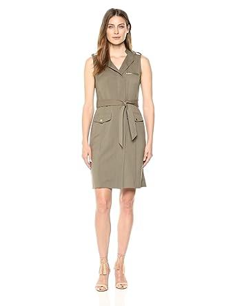 2f91ce1c1cd Sharagano Women s Sleeveless Shirt Dress at Amazon Women s Clothing ...