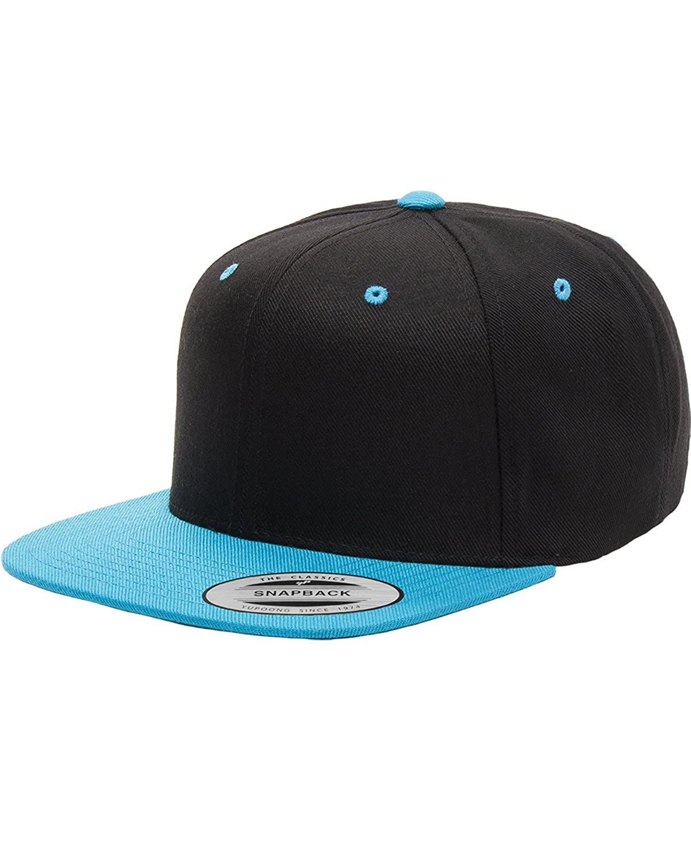 da2f1cac2d0fd5 Flexfit/Yupoong 6089M,6089MT,6089CAMO 6 Panel Premium Classic Snapback Hat  Cap (Black/Purple): Amazon.ca: Jewelry