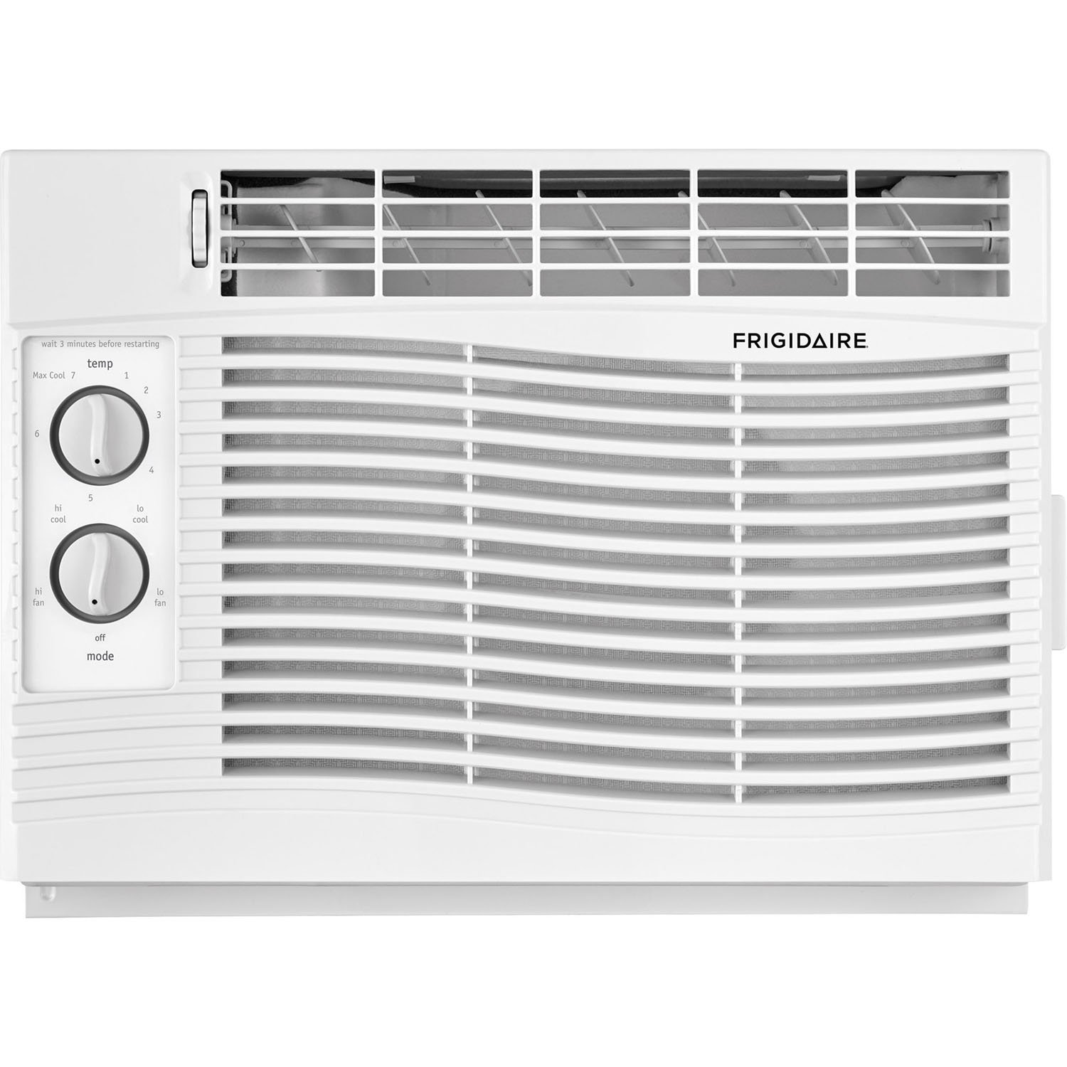 FRIGIDAIRE 5,000 BTU 115V Window-Mounted Mini-Compact Air Conditioner with Mechanical Controls, White, 5000 by FRIGIDAIRE