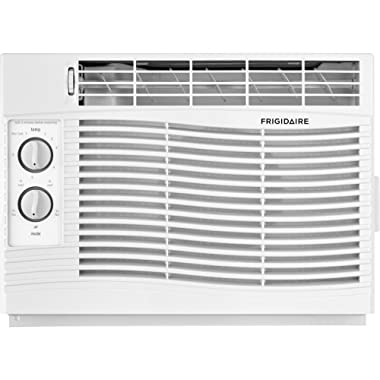 FRIGIDAIRE 5,000 BTU 115V Window-Mounted Mini-Compact Air Conditioner with Mechanical Controls, White, 5000