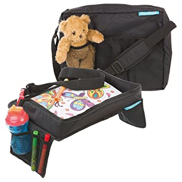 Childrens Snack N Play Car Seat Travel Tray Carry Bag Set By Supa Dupa