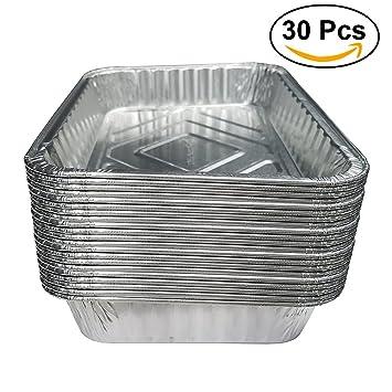 ounona sartenes de goteo de barbacoa desechables bandeja bandejas de papel de aluminio lata para grasa