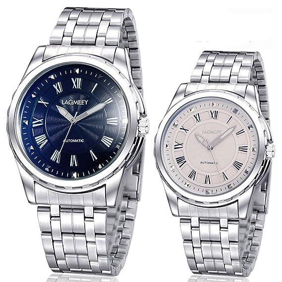 Venta caliente Reloj mecánico automático Langmai Hombre Relojes Weiguan Blanco Azul