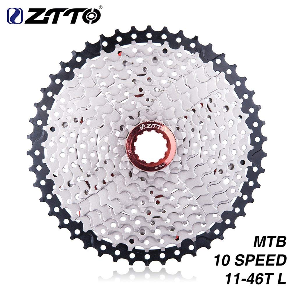 FDBF Ztto 10 Speed 11-46T Wide Ratio Cassette for Mountain Bikes Compatible