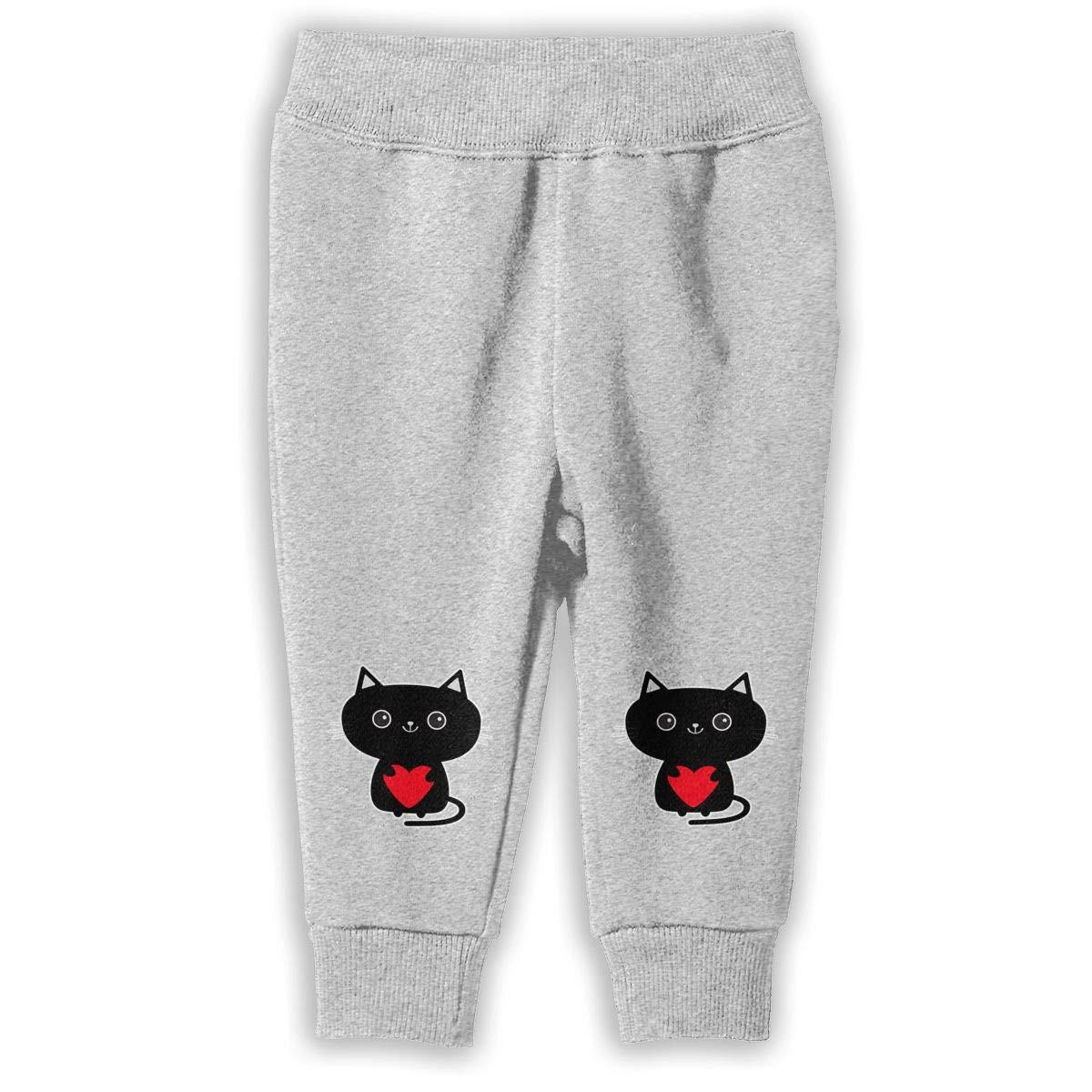 2-6T Black Cat Boys Sweatpants Solf Jogger Pants Active Pants Cotton Pants