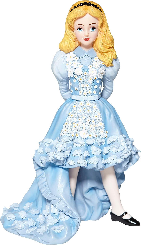 Enesco Disney Showcase Couture de Force Alice in Wonderland Blue Dress Figurine, 7.09 Inch, Multicolor