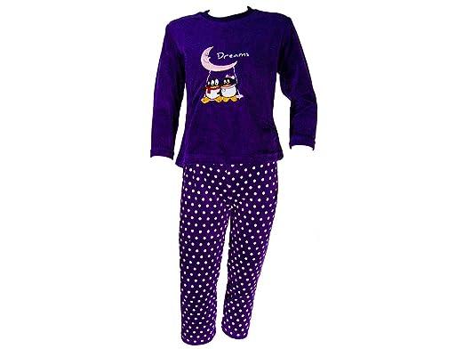 911211e45 Pijama tundosado (Terciopelo) Manga Larga Niña - Infantil: Amazon.es: Ropa  y accesorios
