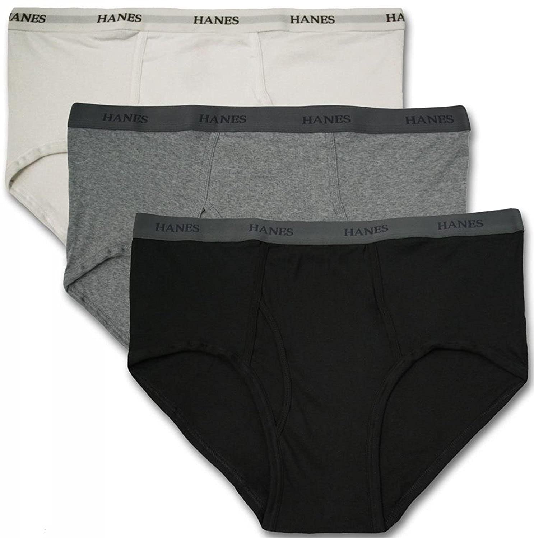 Hanes Big Men's Underwear Cotton BRIEFS 3-Pack