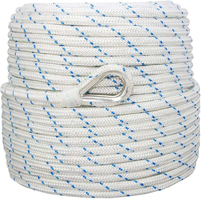 anchor rope dock lines 1//2 x 150 Pacific BLUE made USA
