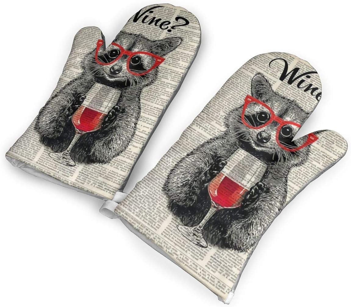 not Raccoons Wear Red Wine Glasses Oven Gloves are Perfect for Restaurants and Bakeries Ect