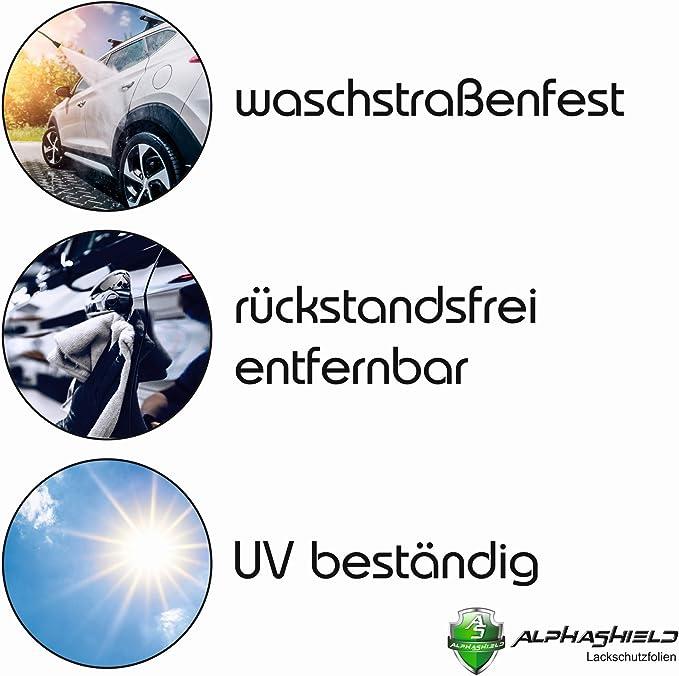 Finest Folia L06 Ladekantenschutz Lackschutzfolie Inklusive Rakel Filz Passgenauer Zuschnitt Für Ihr Fahrzeug Schutz Kofferraum Carbon Schwarz Auto
