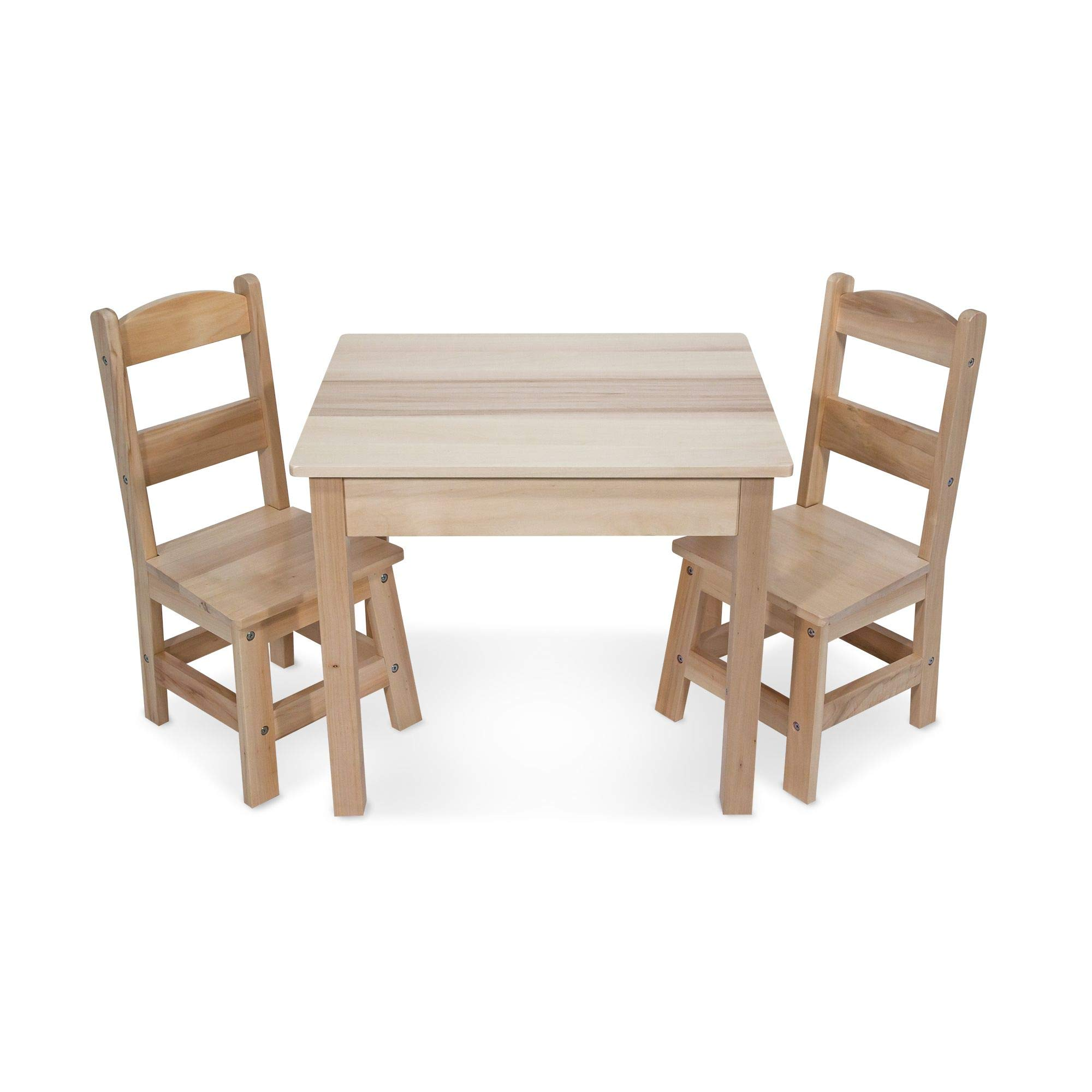 Melissa Doug Solid Wood Table Chairs Kids Furniture Sturdy Wooden