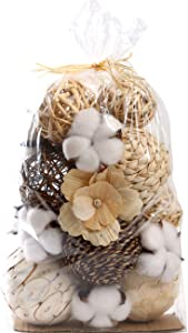 Ciroases Decorative Balls Assorted Spherical Rattan Twigs Wicker Balls Cotton for Bowl and Vase Filler Balls Spheres Orbs Filler Centerpiece Home Decor …