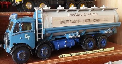 Petrolero a granel de Langley Models AEC Mammoth Major 1947 camión OO escala sin pintar Kit