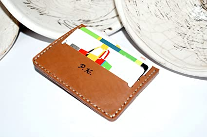 Amazon personalized leather business card holder personalized personalized leather business card holder personalized mens leather credit card holder minimalist leather business colourmoves
