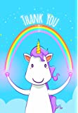 Pack of 10 Unicorn Design Thank-You Cards & Envelopes by Greetingles