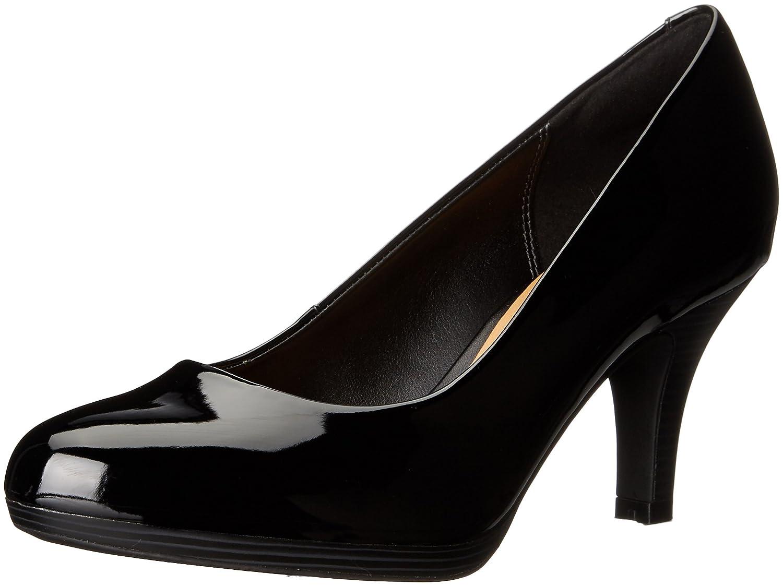 CLARKS Women's Brenna Maple Dress Pump B0195PJ2NQ 9.5 B(M) US|Black Patent