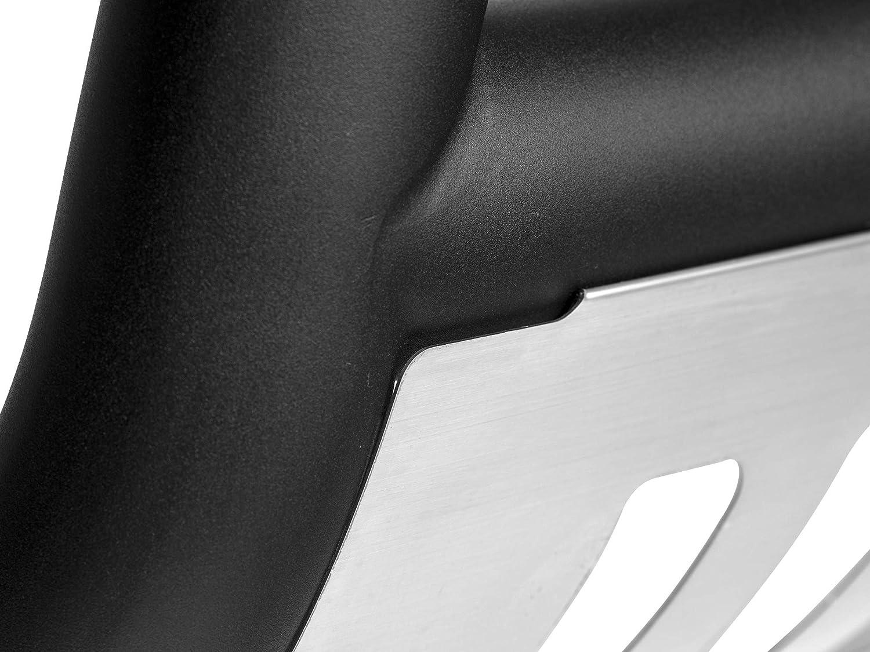 Matte Black W//Aluminum Skid Plate Armordillo USA 7142176 Classic Bull Bar Fits 2005-2011 Dodge Dakota