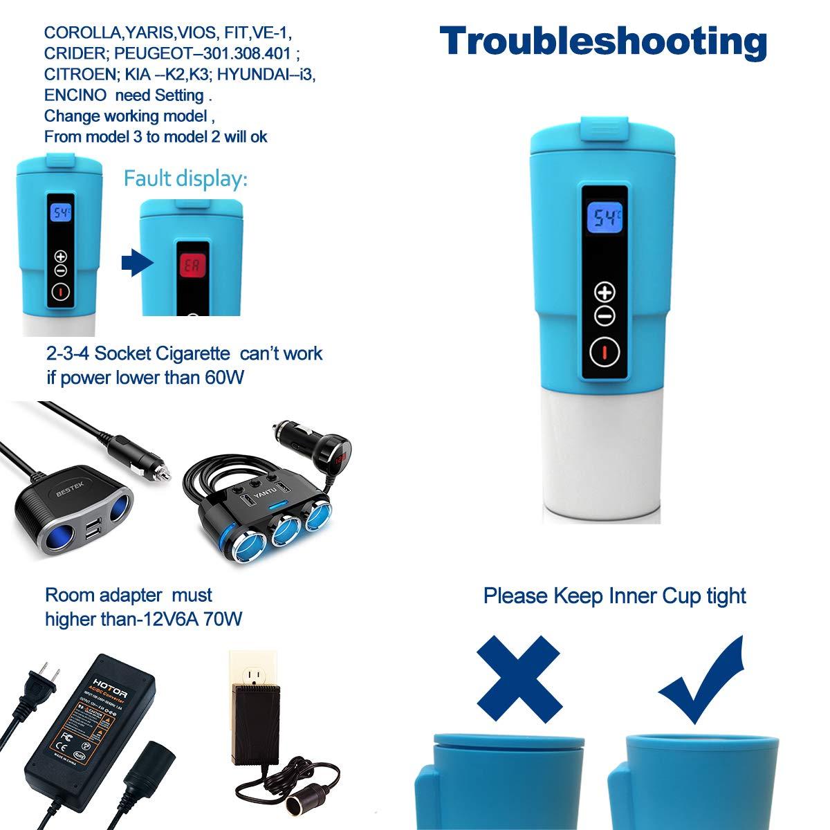 Puncia 12V Smart Beast Storage Bag Heater Car Bottle Warmer Breast Milk Warmer on The Go for Car (Blue)