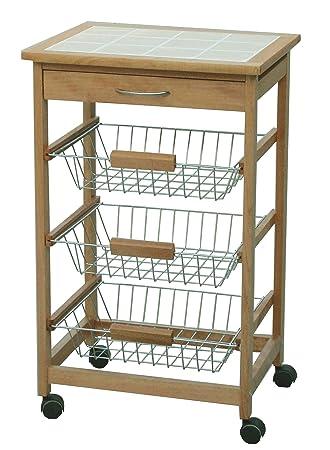 Archimede Kuchenwagen Holz Braun Amazon De Kuche Haushalt