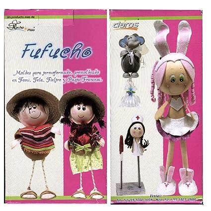 thikas moldes muñecas fufucho de termoformado fufucho Contiene 7 Pares de moldes
