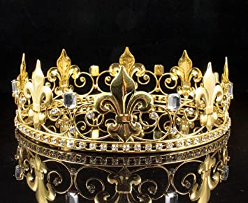 Amazon janefashions teens boys metal king crown austrian janefashions teens boys metal king crown austrian rhinestone crystal theater prom party c806g gold thecheapjerseys Image collections
