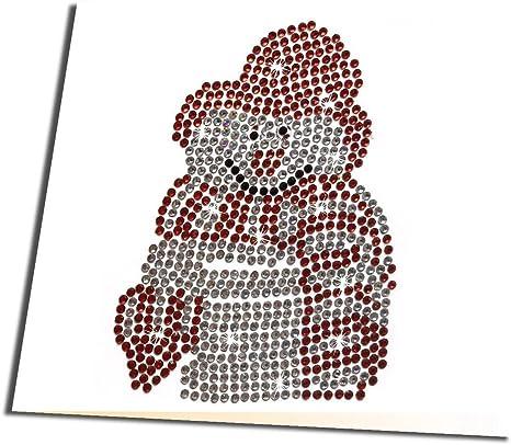 Howling Wolf Craft BuddyUS Crystal CardKit,5D Diamond Painting GreetingCard A12