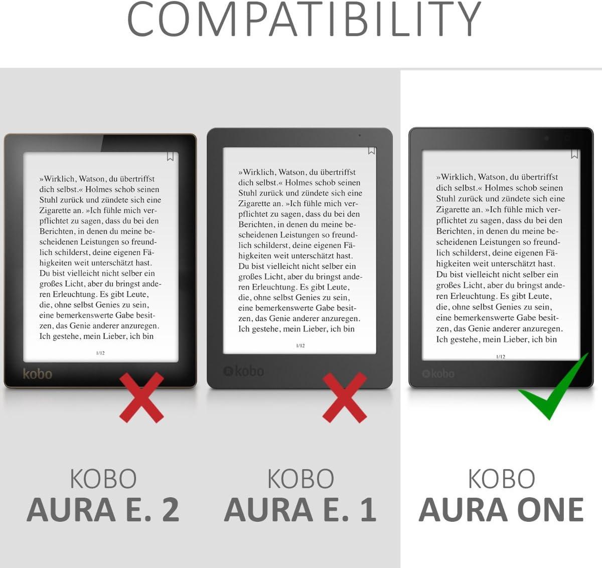 para eReader kwmobile Funda Compatible con Kobo Aura One b/úho dormil/ón