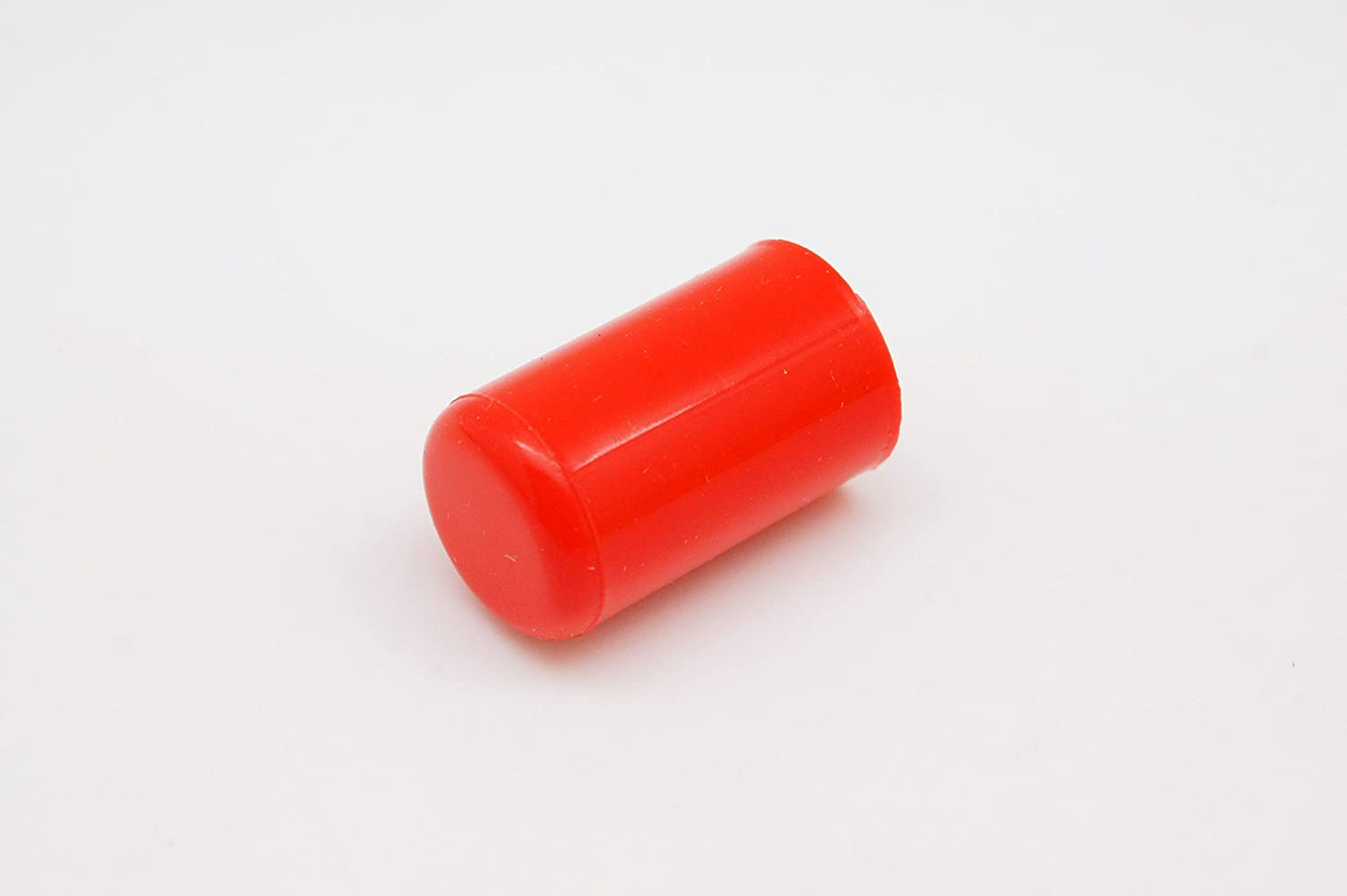 """LC 10 Pieces of Silicone Blanking Cap, for Water Intake Vacuum Hose End Bung Plug, Inner Diameter 10mm (0.39"""") to 11mm (0.44""""), Red"""