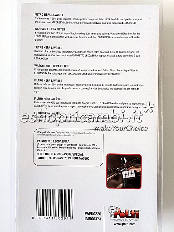 Crem y marron Polti PAEU0287 Kit 2 pa/ños especial parquet con paragolpes compatible con la aspiradora serie UNICO