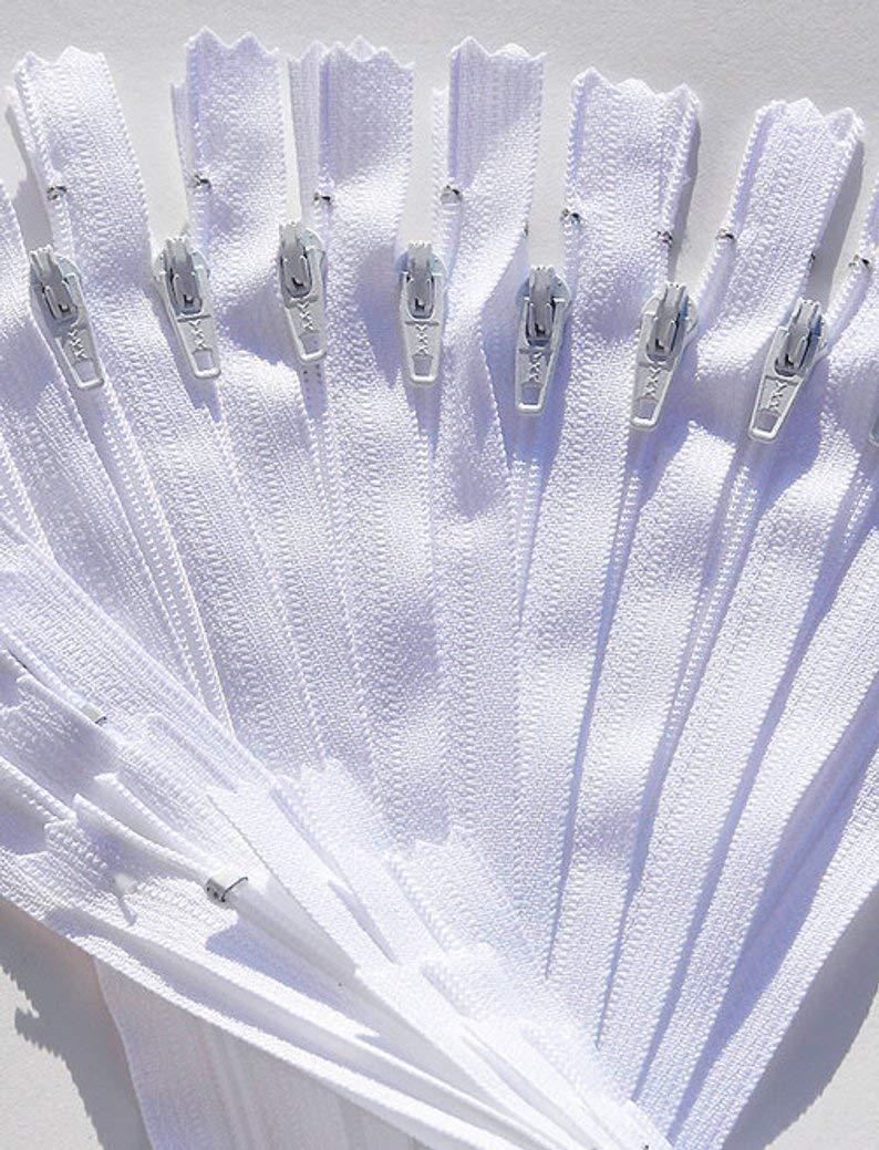 100 YKK White #3 Skirt and Dress Zipper (22'' Inches) by YKK