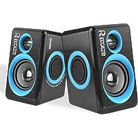 RECCAZR Surround Computer Speaker for PC/Laptops/Smart Phone (BLUE)