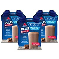 Atkins PLUS Protein-Packed Shake. Creamy Milk Chocolate with 30 Grams of High-Quality...
